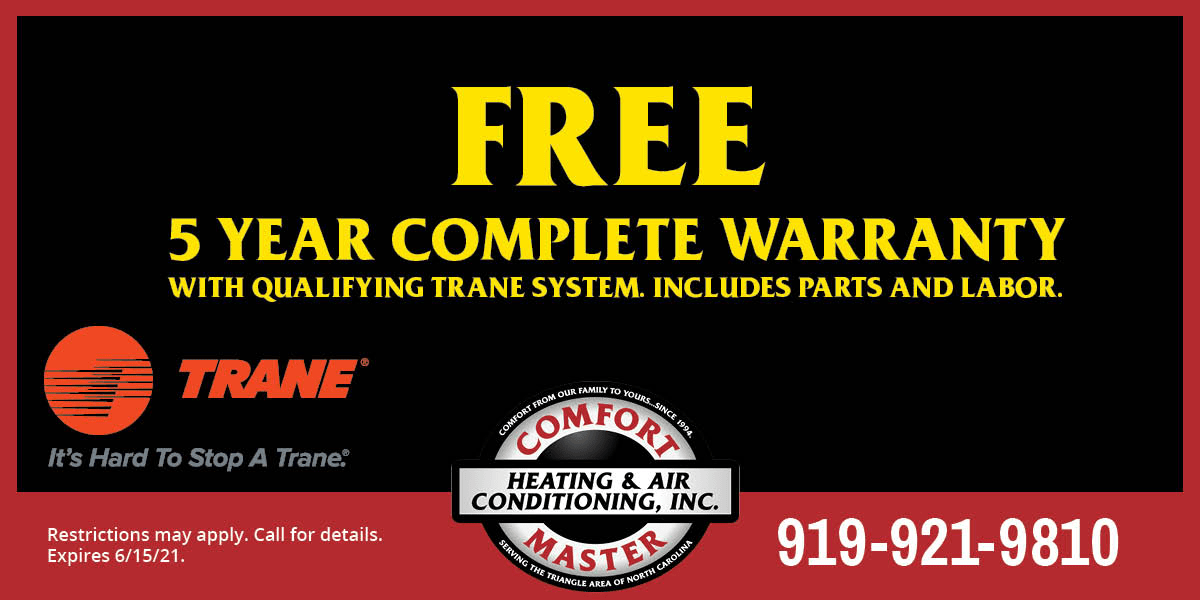 special offer from Trane and Comfort Master